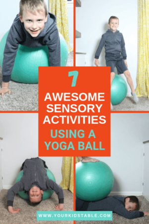 7 easy sensory activities using a therapy ball with