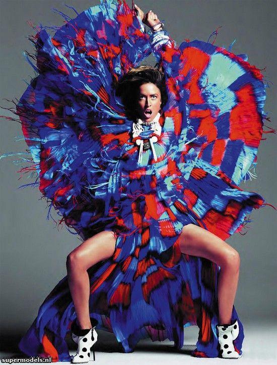 Raquel Zimmermann in 'Haute Couture' - Photographed by Inez & Vinoodh (Vogue Paris November 2011)