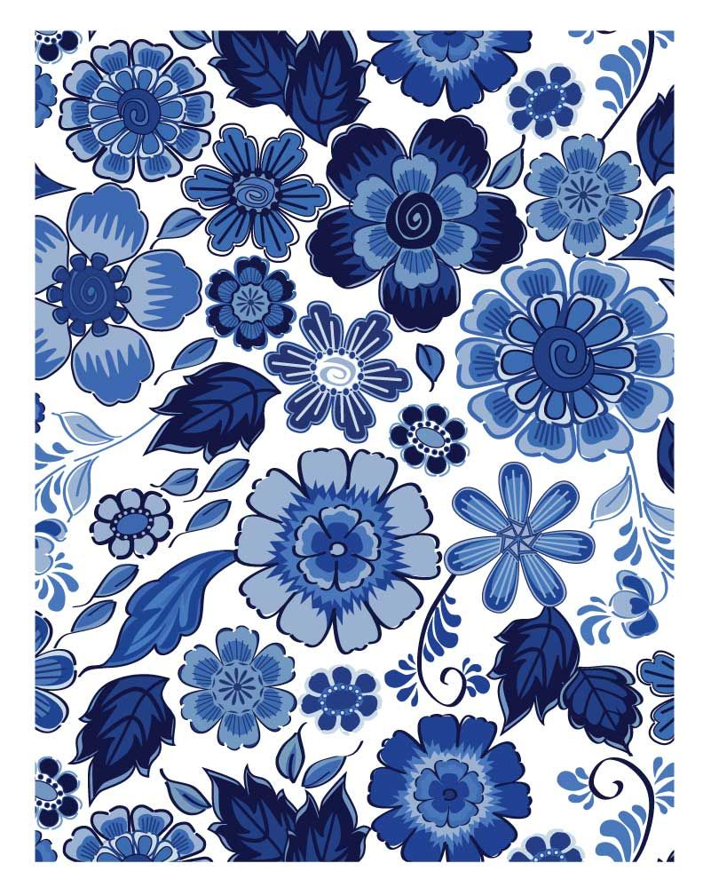 Patricia 39 s portfolio delft blue fabric and quilt design for Patterned material fabric
