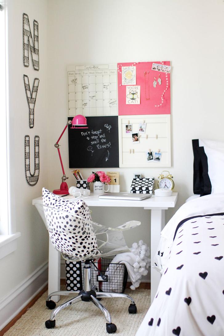 Bedroom Decorating Ideas New England Style espaço lindo e feminino para estudar e se organizar | office