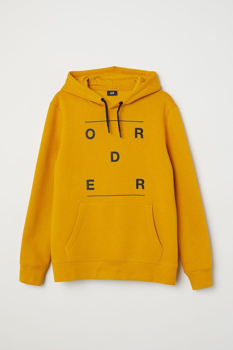 0da5c9f0f Camisola com capuz e estampado - Amarelo escuro Order -