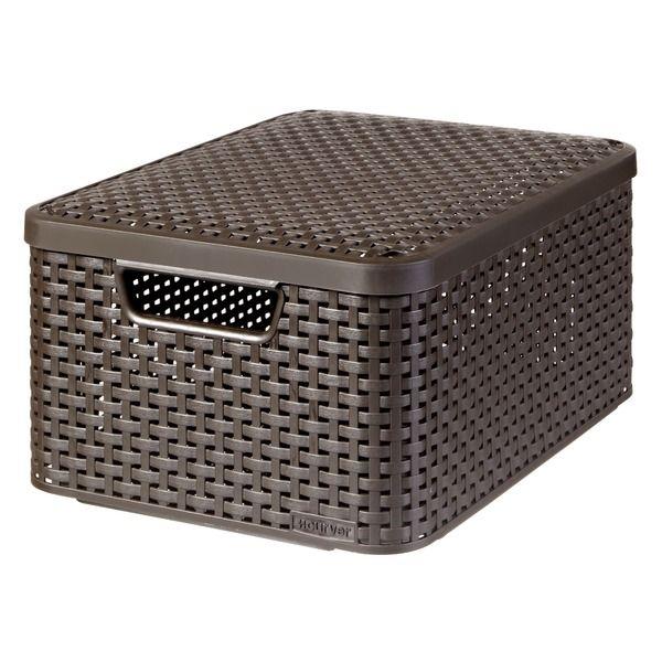 Style Box Lid Household Hacks Storage Boxes Storage