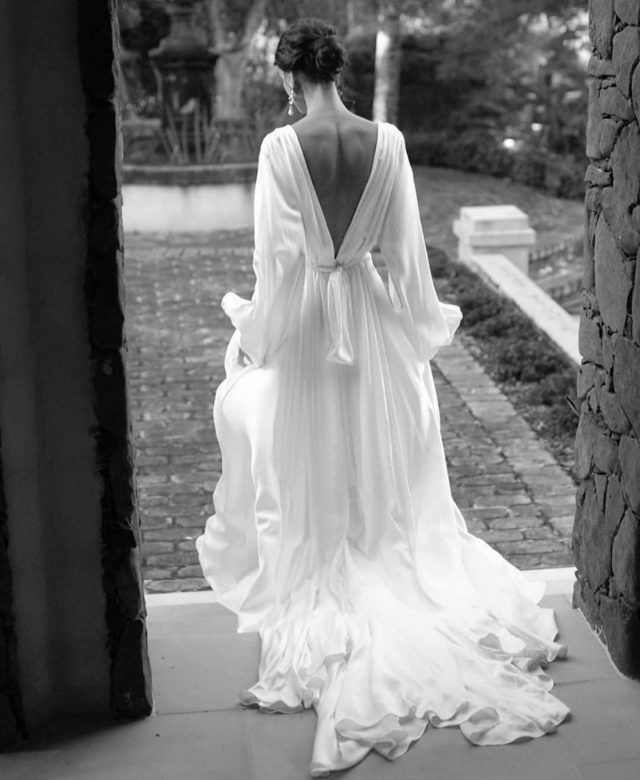 Photo of A Pronovias Gown for a Glamorous and Sophisticated Barn Wedding