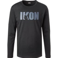 Photo of Karl Lagerfeld men's long-sleeved shirt, cotton, blue Karl Lagerfeld