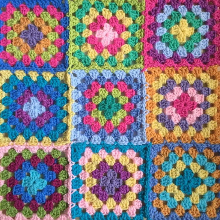 Easy Peasy Basic Granny Square Muster Join As You Go Methode
