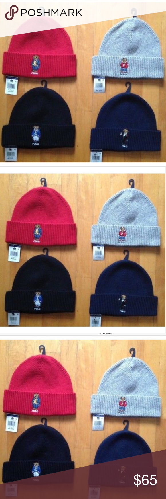 fdc7fb4fff99fb Polo Ralph Lauren Bear Beanie Winter Hat One Size NWT Hat Ribbed One Size ,  3 different color left Polo by Ralph Lauren Accessories Hats