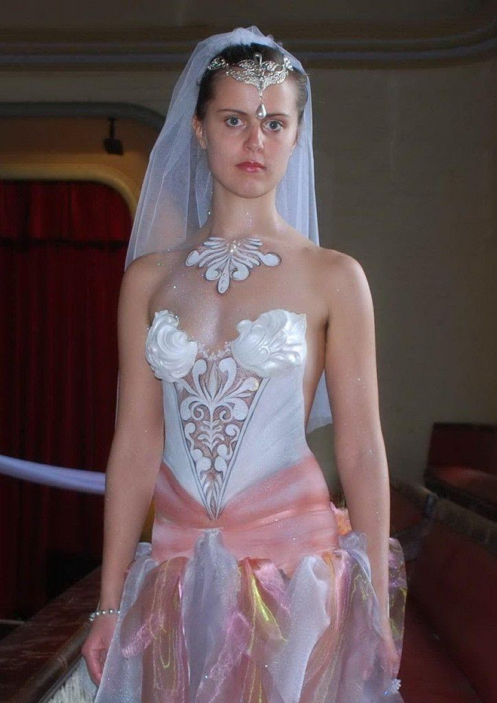 Body Paint Wedding Dress 29
