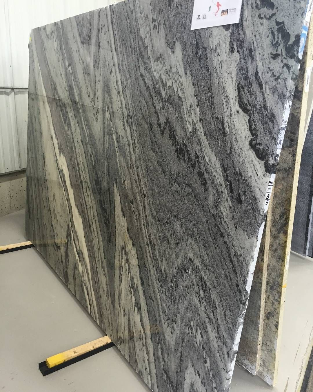 Mercury Granite From Italy Has Dramatic Black And White Veining That Create A Strong Sense Of Movement This Stone Is Sophisticated Accompaniment To Sleek