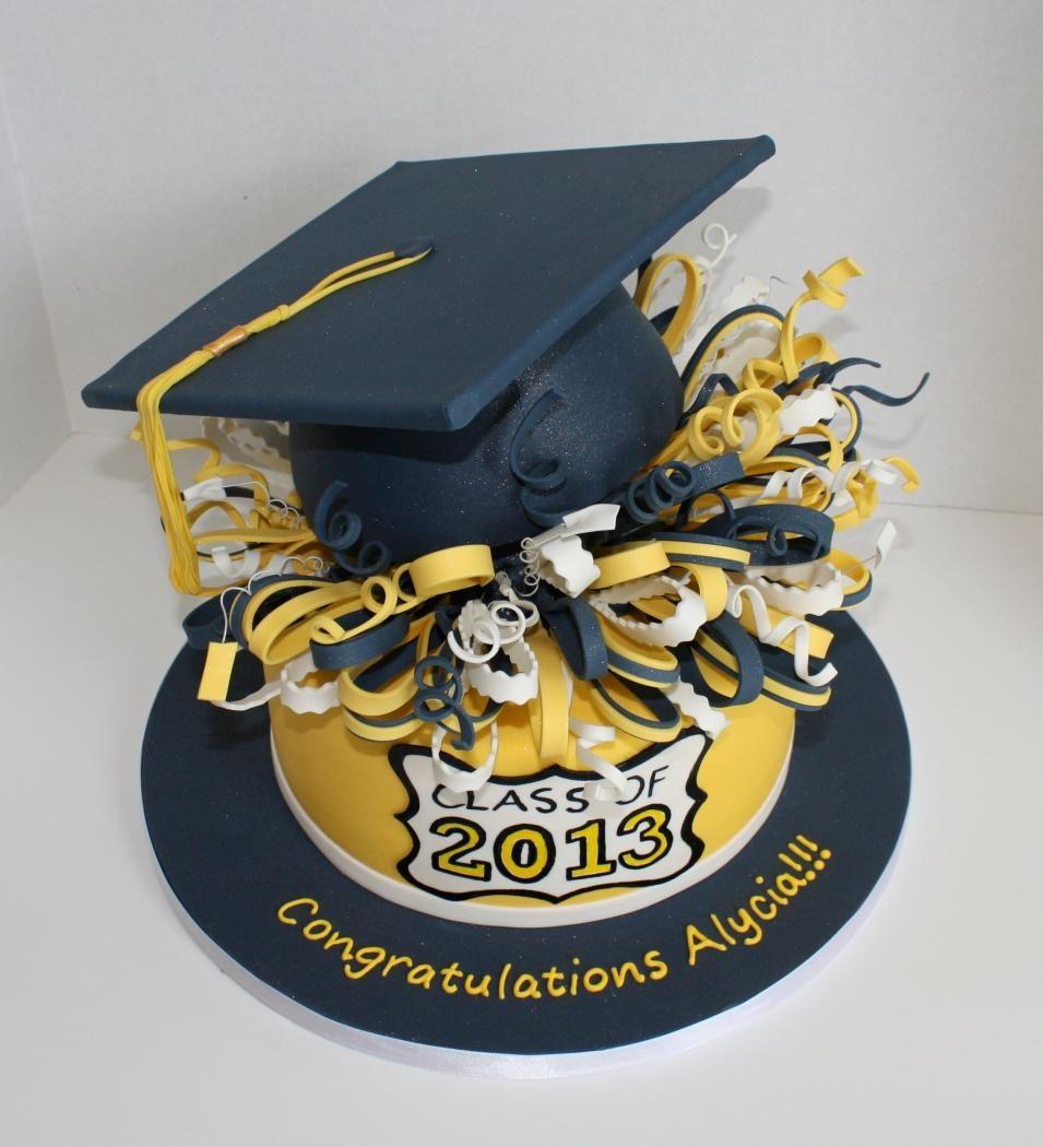Topsy Turvy Graduation Cake Del Val 2017