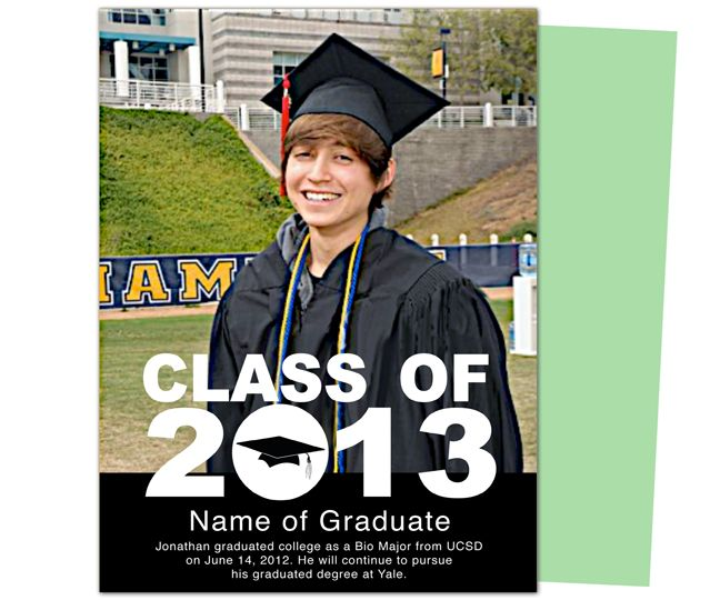Printable Diy Graduation Announcements  Class Graduation