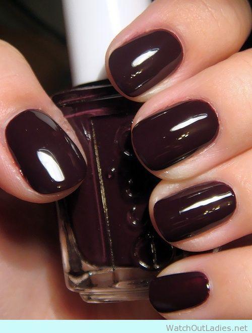 Essie dark Burgundy Nail for AW16/17 | Nail Art | Pinterest