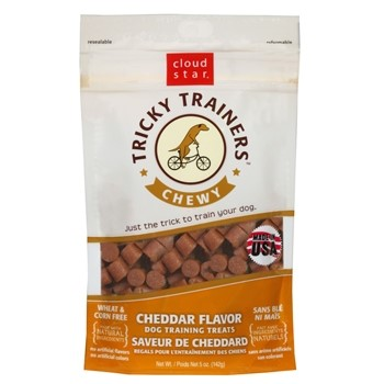 Cloud Star Tricky Trainers Chewy Cheddar Flavor Dry Dog Treat 5 Oz Star Cloud Dog Treats Dog Training Treats