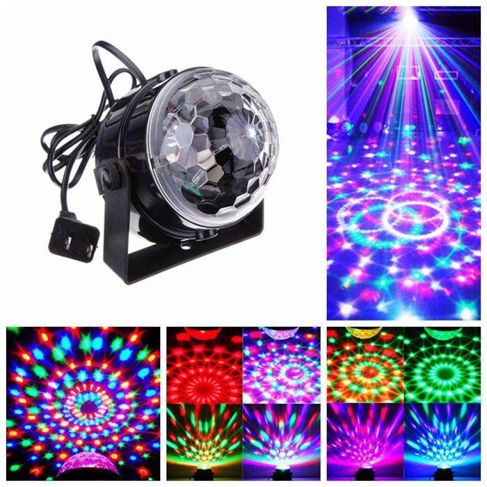 Disco DJ Lumi/ère LED Lights Boule Lumiere Son Activated Danse Projector Lamp Light Party EU Plug