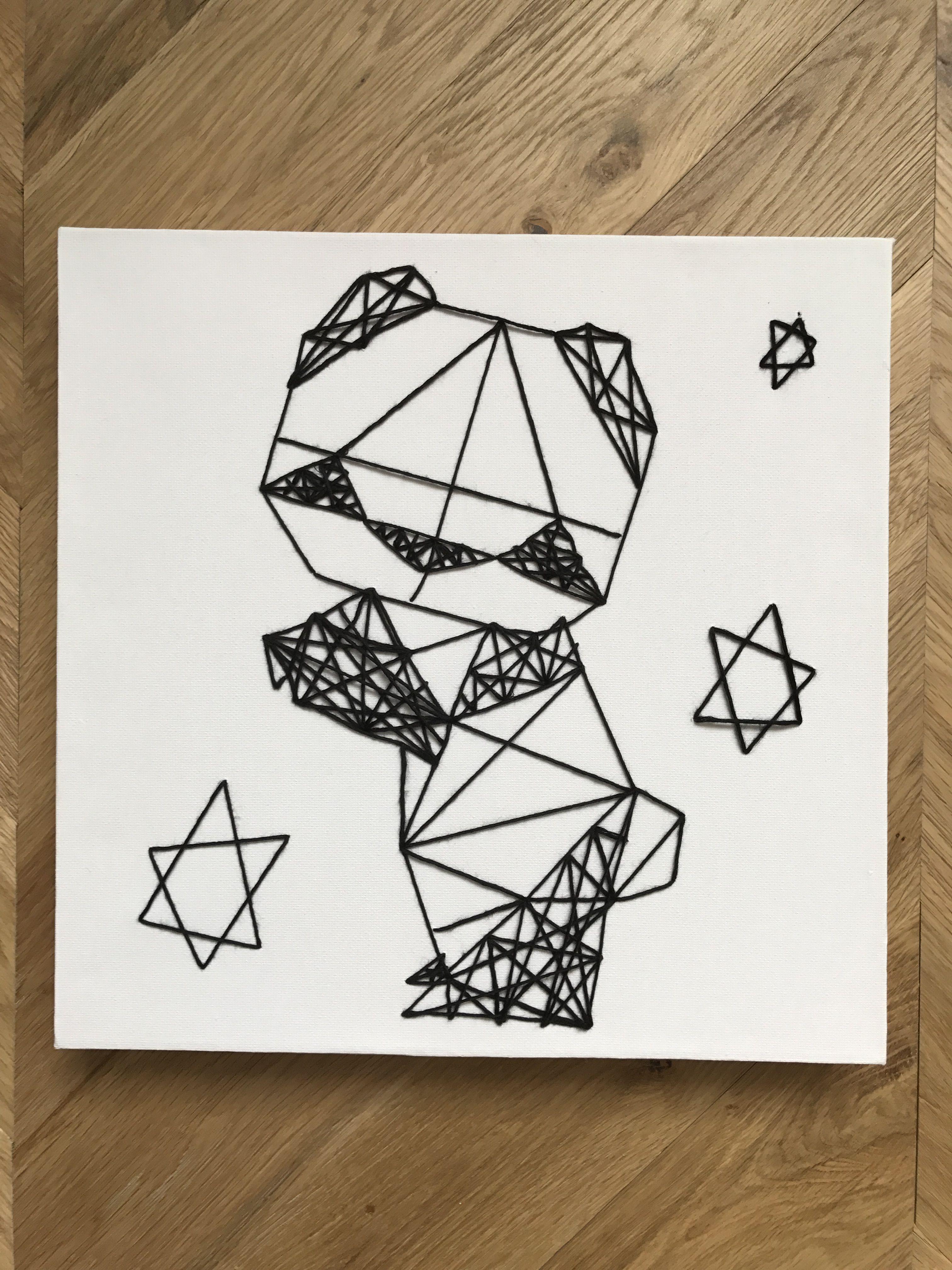 cadre panda origami en string art mes cr a 39 bricolages pinterest panda origami et cadres. Black Bedroom Furniture Sets. Home Design Ideas