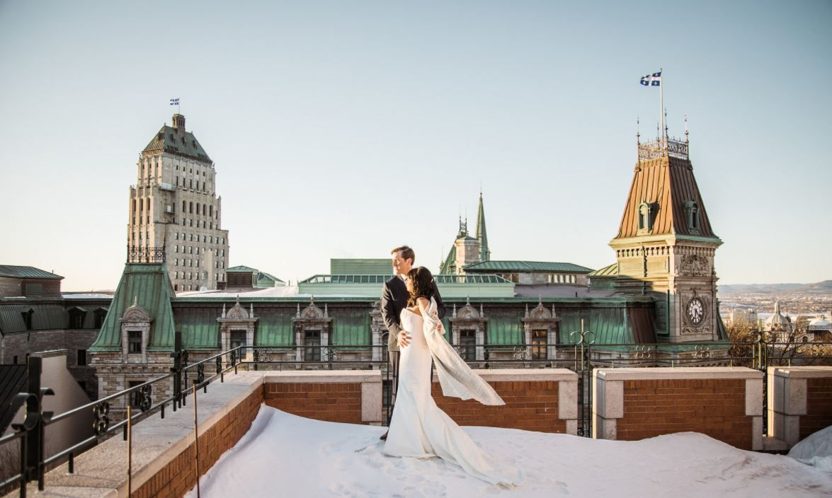 Magnifique mariage d'hiver au Château Frontenac | Stunning winter wedding taking place at the Chateau Frontenac #winterwedding