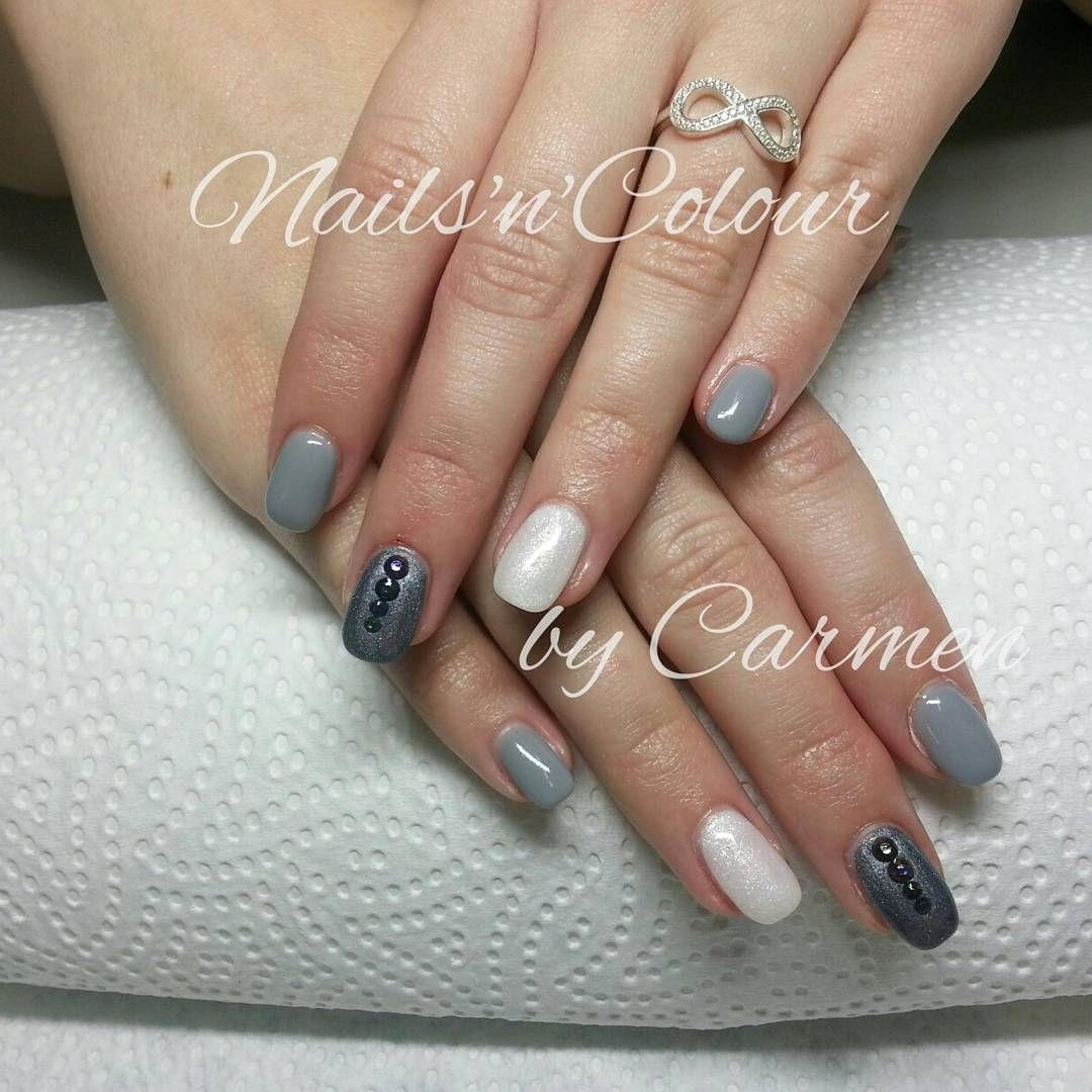 Nailart Grau Nagel Nageldesign Fullcover Nails Naildesign
