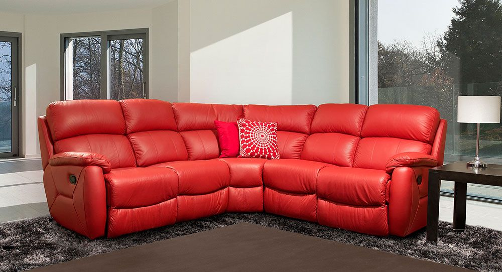 ... Sectional Sofa Recliner Leather. Pinterest The World S Catalog Of Ideas & red leather recliner corner sofa | Sofa Ideas islam-shia.org