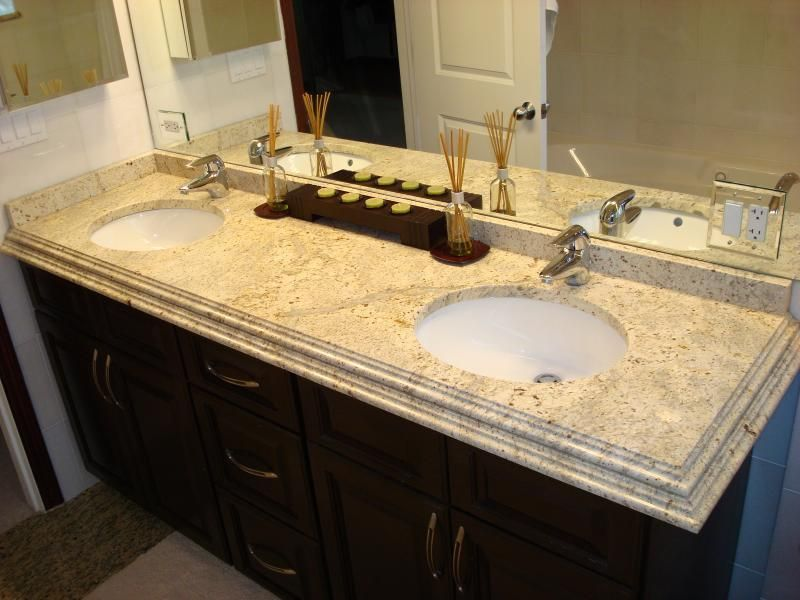 colonial cream vanity top with double ogee stepped edge to 2 1 2 rh pinterest co uk Cream Bathroom Vanity Ideas Cream Colored Bathroom Vanities