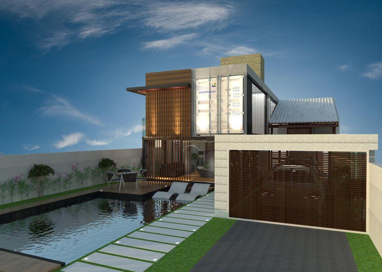 Casa Containers com Garagem Container house