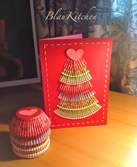 C mo hacer una tarjeta navide a blaukitchen christmas - Hacer una tarjeta navidena ...