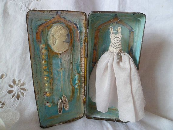 Art Assemblage story tin Once Upon A Time by MesssieJessie
