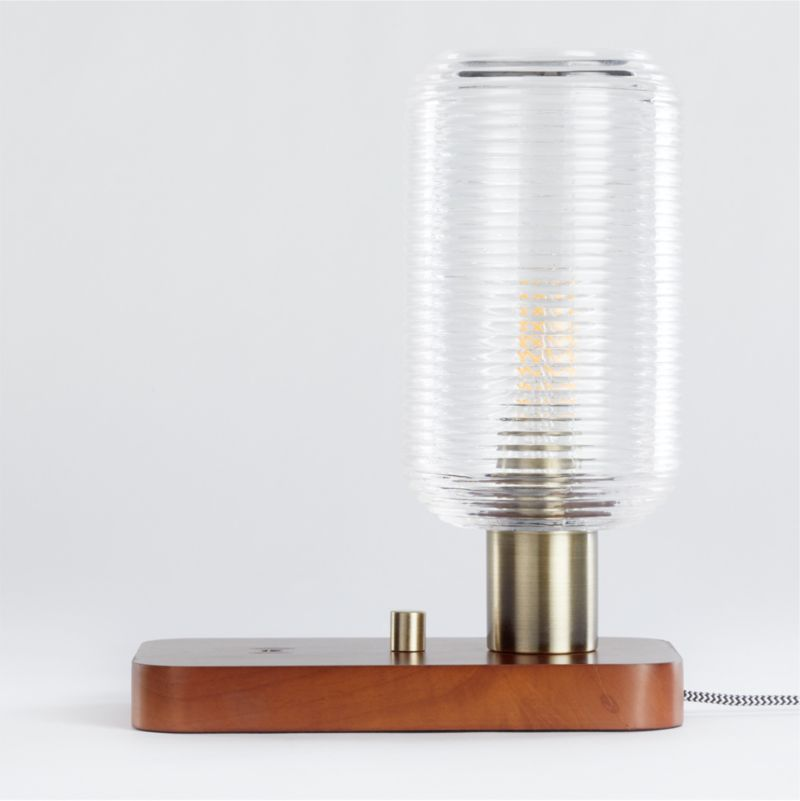 Charlie Charging Table Lamp Reviews Crate And Barrel