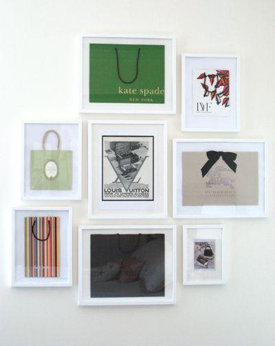 Framing designer shopping bags   Dream Closet   Pinterest   Shopping ...