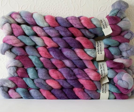 Bluefaced Leicester combed top 'Penchant' by ArtistsPaletteYarns