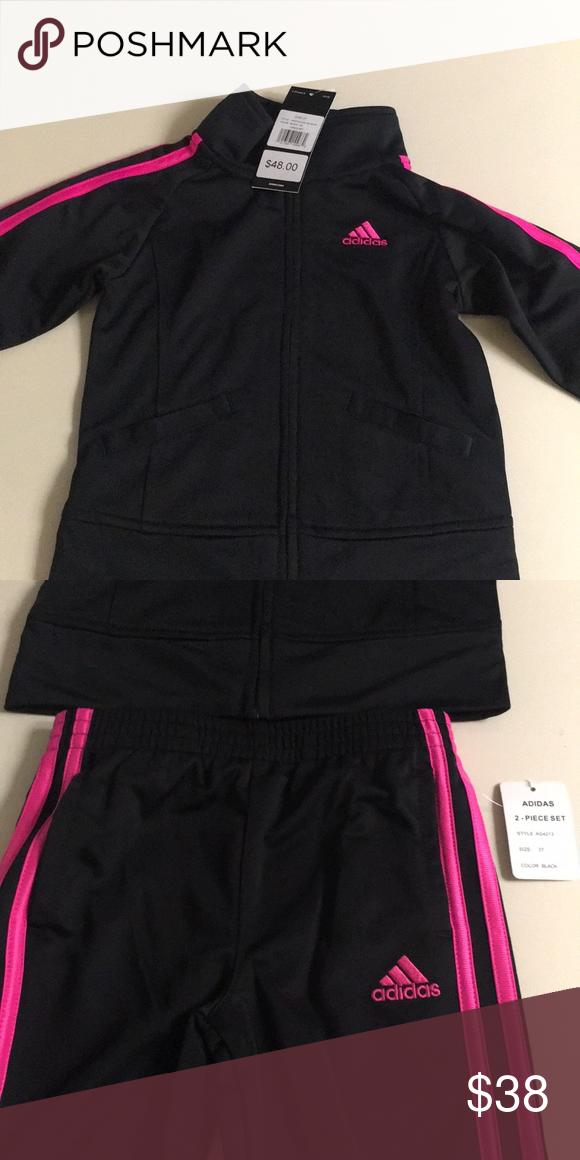 Hot pink Adidas track jacket