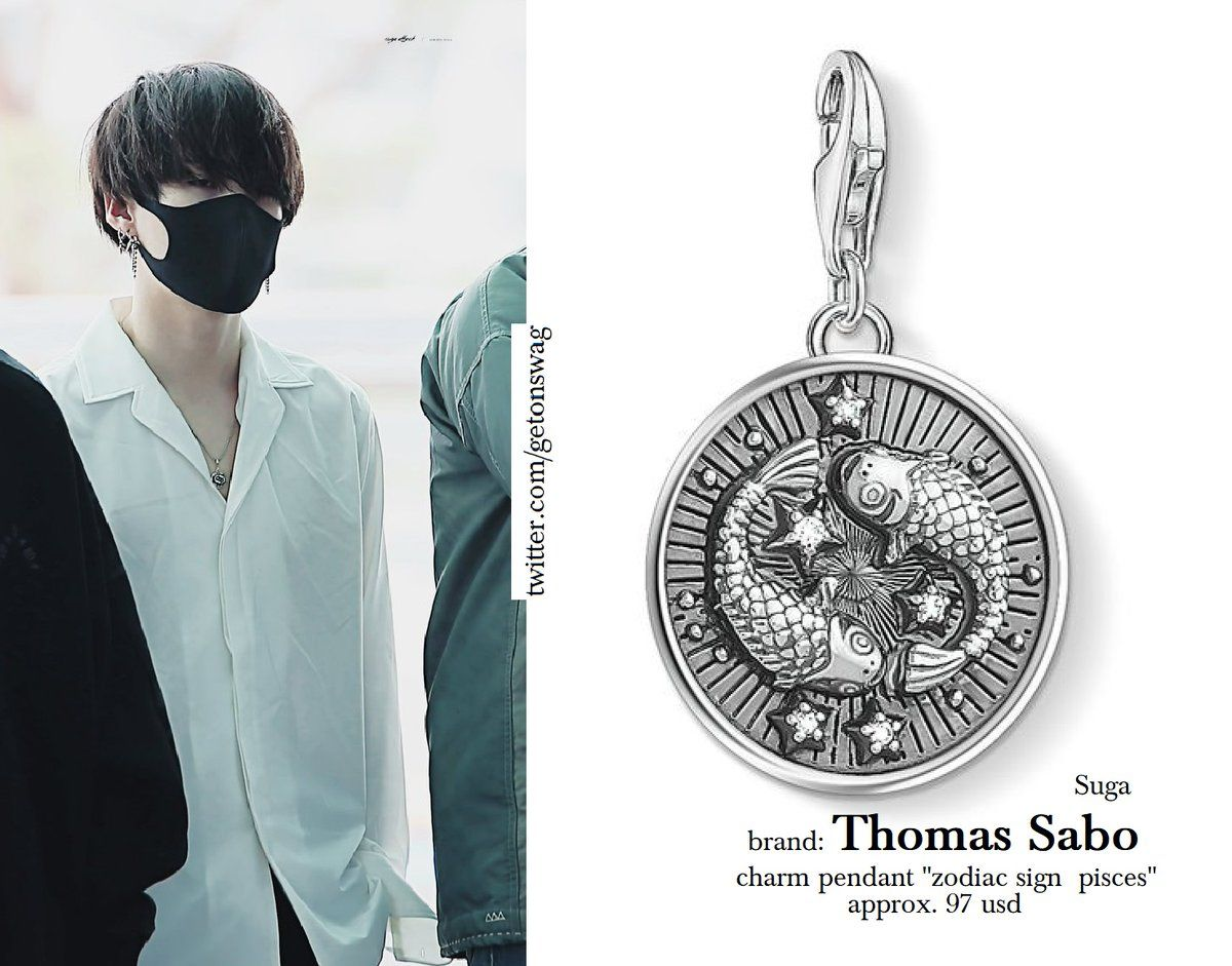 Thomas Sabo Charm Pendant Zodiac Sign Pisces Pisces Necklace Bts Inspired Outfits Bts Clothing