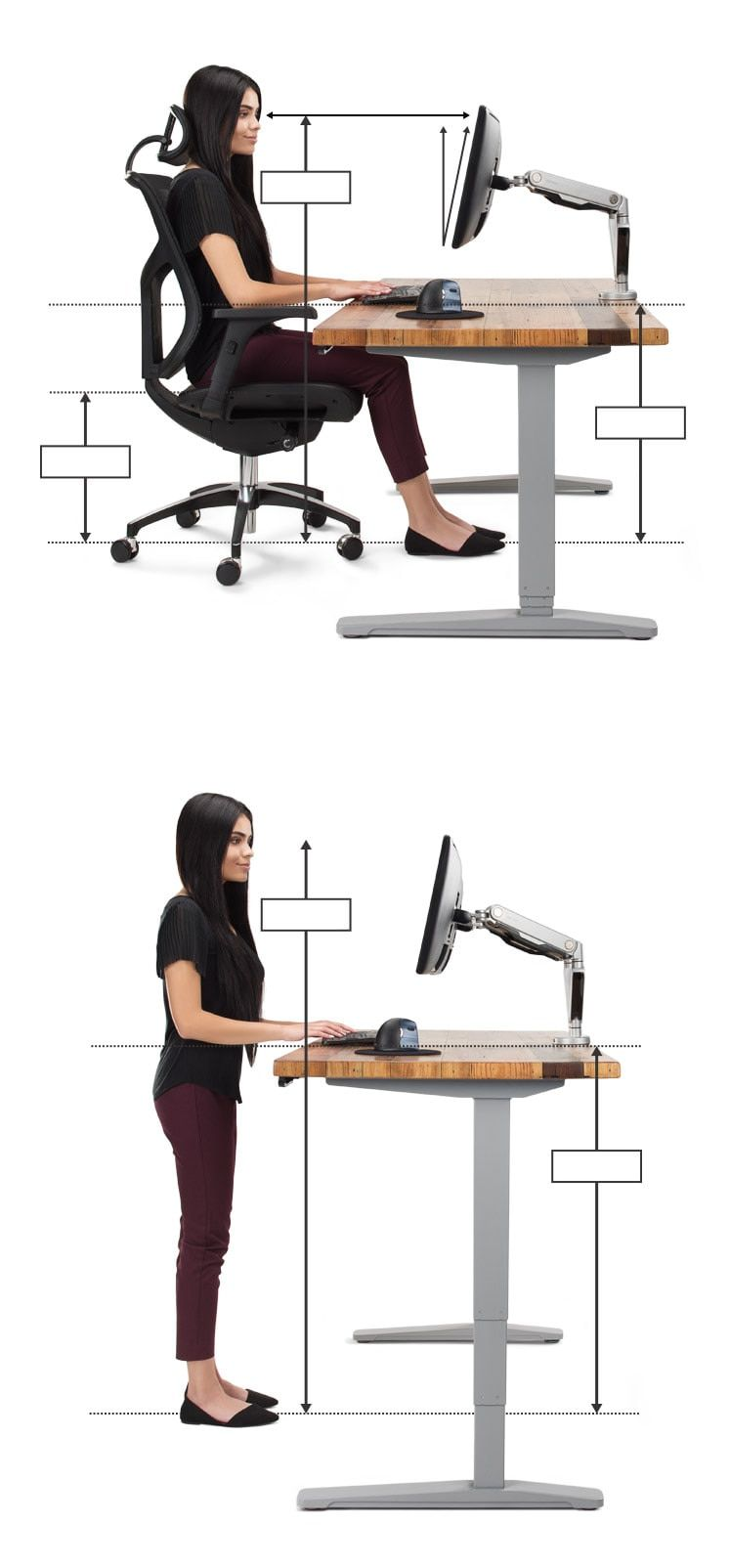 Ergonomic Office Desk Chair And Keyboard Height Calculator Ergonomic Desk Height Ergonomic Desk Ergonomic Office