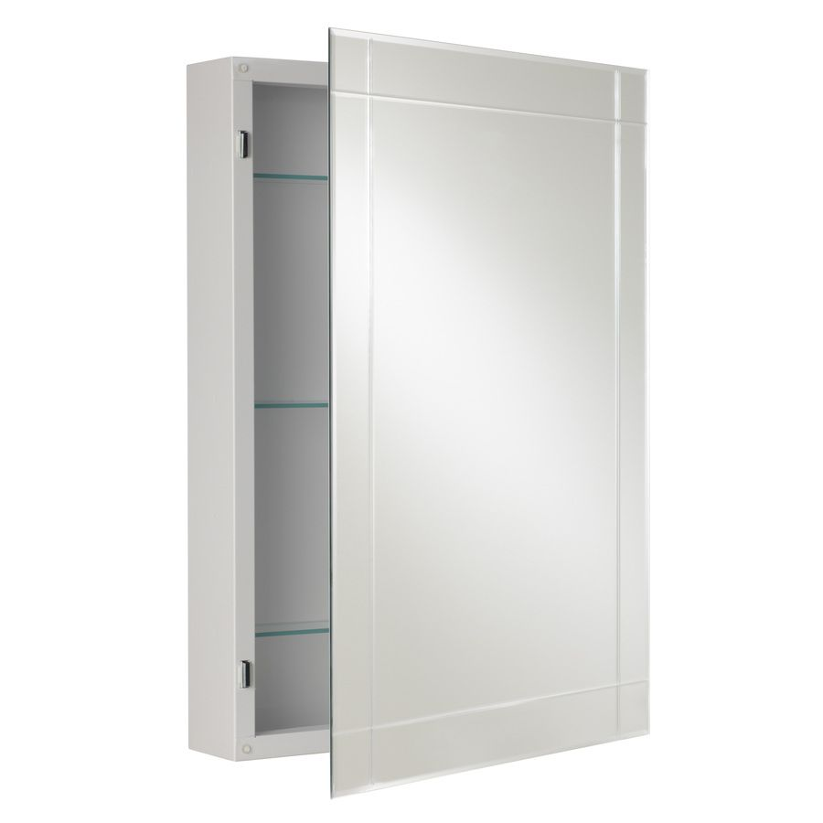 Mirrored Medicine Cabinet Lowes Pleasing Shop Allen  Roth 2225In X 3025In Rectangle Surface Aluminum Decorating Design