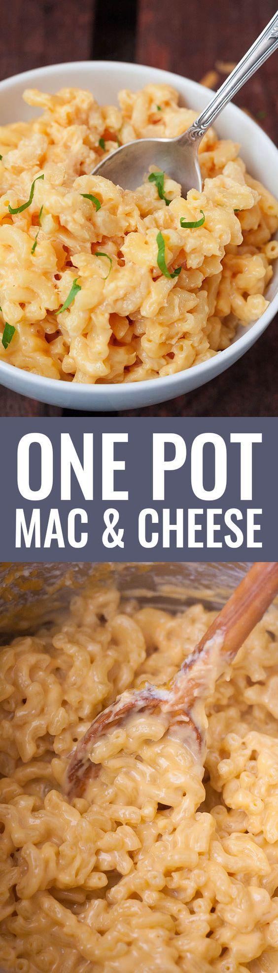 One Pot Mac & Cheese VORSICHT! Dieses Gericht ist zwar simpel zu machen, braucht aber