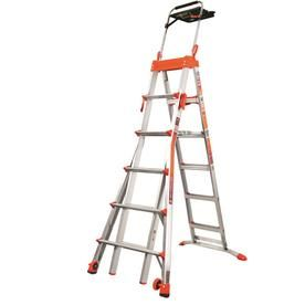 Little Giant Ladders Select Step 10 Ft Aluminum Type 1a 300 Lbs Capacity Telescoping Step Ladder 15109 001 In 2020 Little Giants Step Ladders Ladder