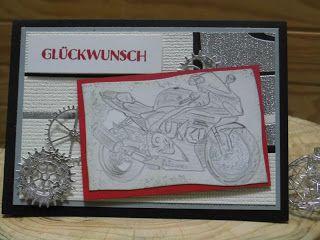 Kartenfenster: Geburtstagskarte - Motorrad - Suzuki GSX-r 1000
