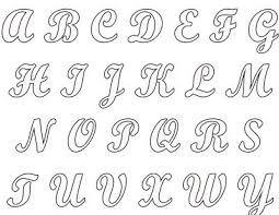 Moldes De Letras Del Abecedario Con Dibujos Buscar Con Google Moldes De Letras Moldes De Letras Cursiva Imagenes De Letras