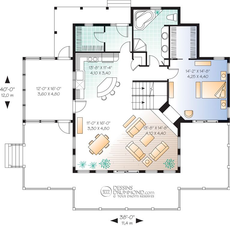 Classic Style Homes, Country Style Homes, Chalet  Waterfront Homes - plan maison etage m