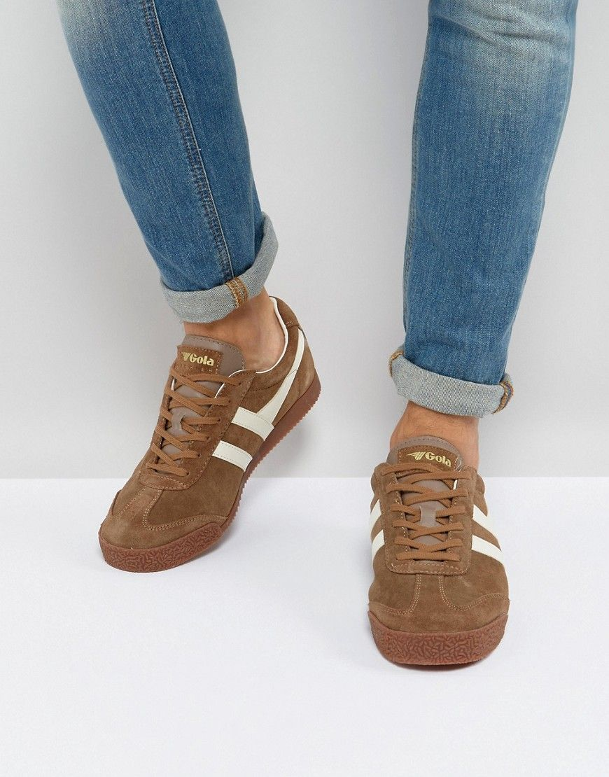 b8540b428129 GOLA HARRIER SUEDE SNEAKERS - TAN.  gola  shoes