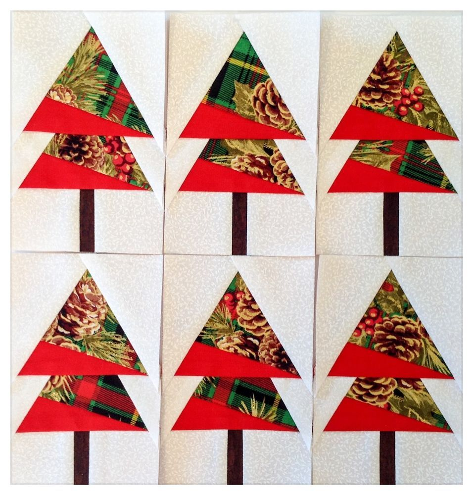 Mini Quilt Blocks 6 5 1 2 Christmas Trees Paper Pieced Kdawnquilts Tree Quilt Block Crazy Quilts Patterns Crazy Quilts