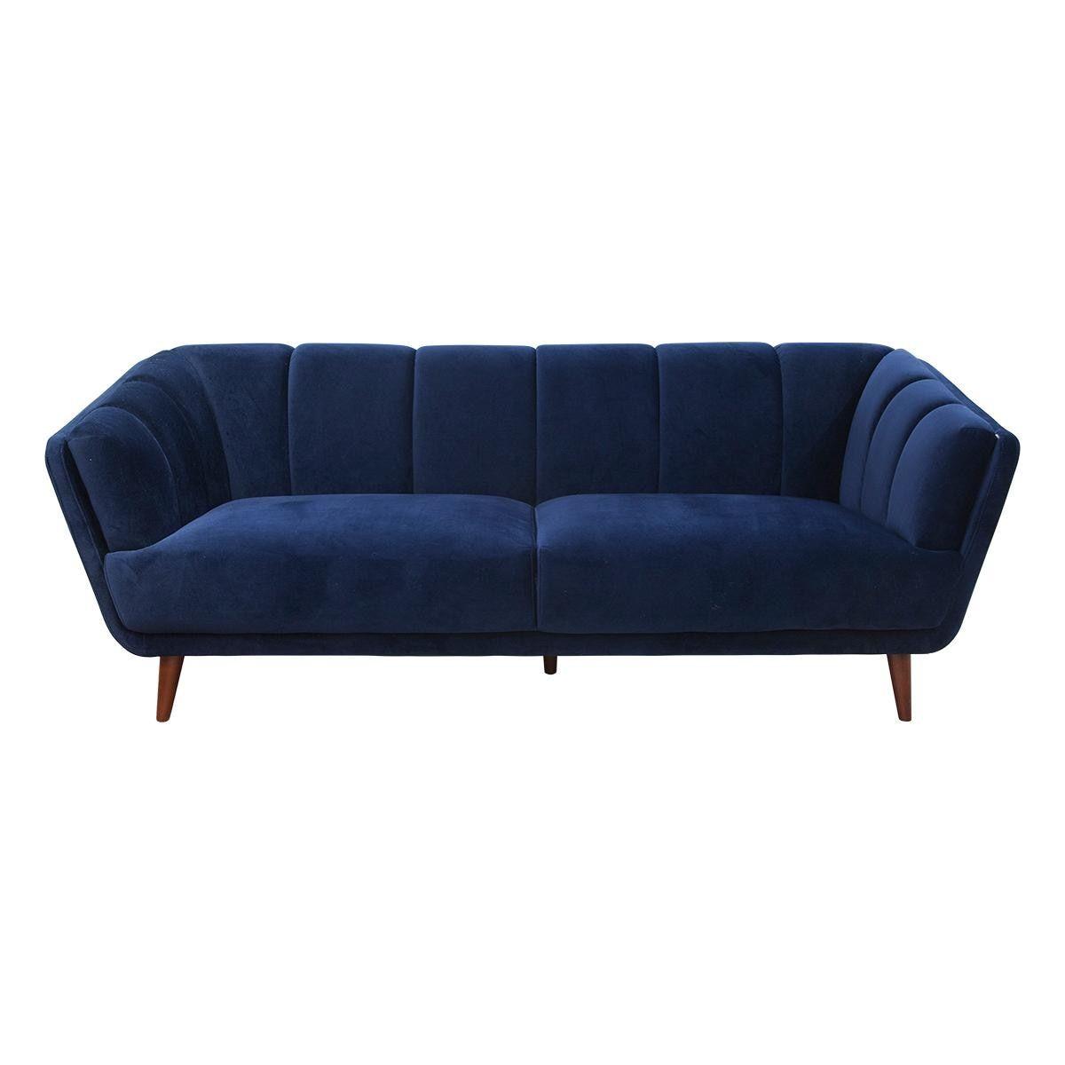 Awe Inspiring Urban Chic Velvet Sofa In Midnight Nebraska Furniture Mart Short Links Chair Design For Home Short Linksinfo
