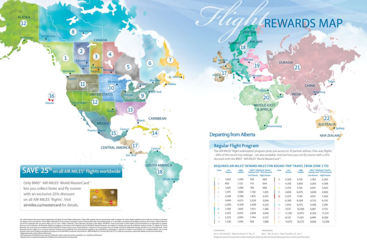 Airmiles Travel Map Air Miles Travel Map | Color 2018