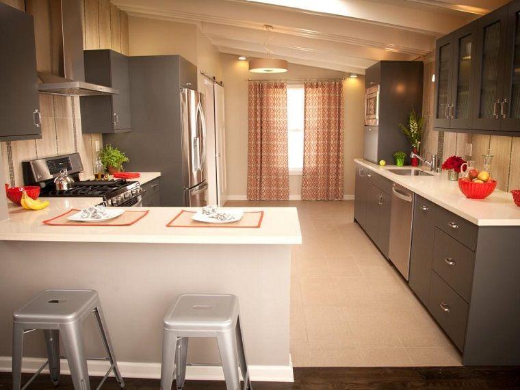 Cocina moderna en forma de U: 50 ideas ultra originales | Muebles ...