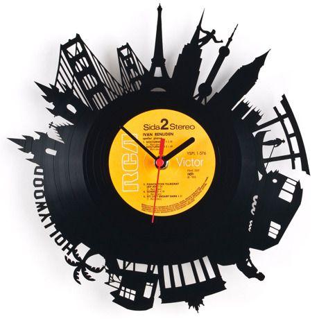 Re Vinyl Wall Clock  Nice Design