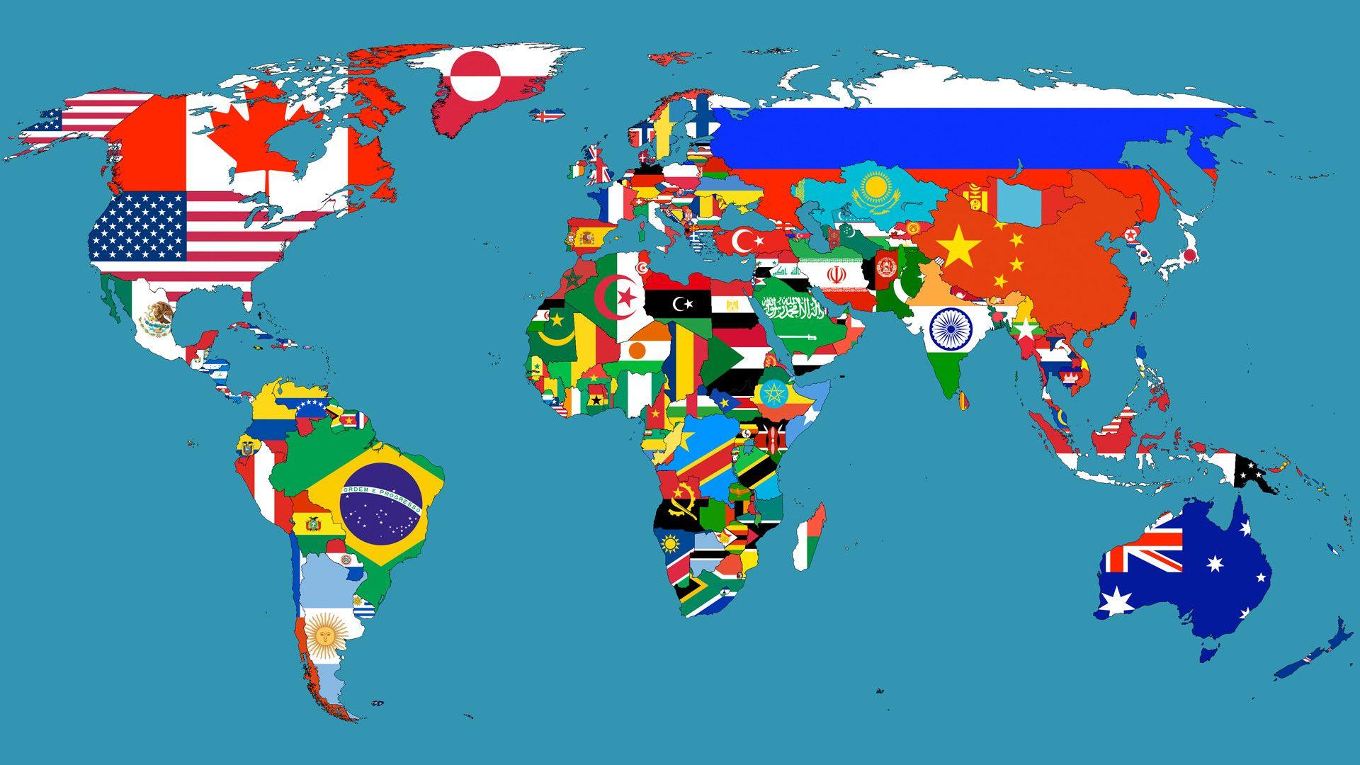Blue World Map HD desktop wallpaper Widescreen High Definition
