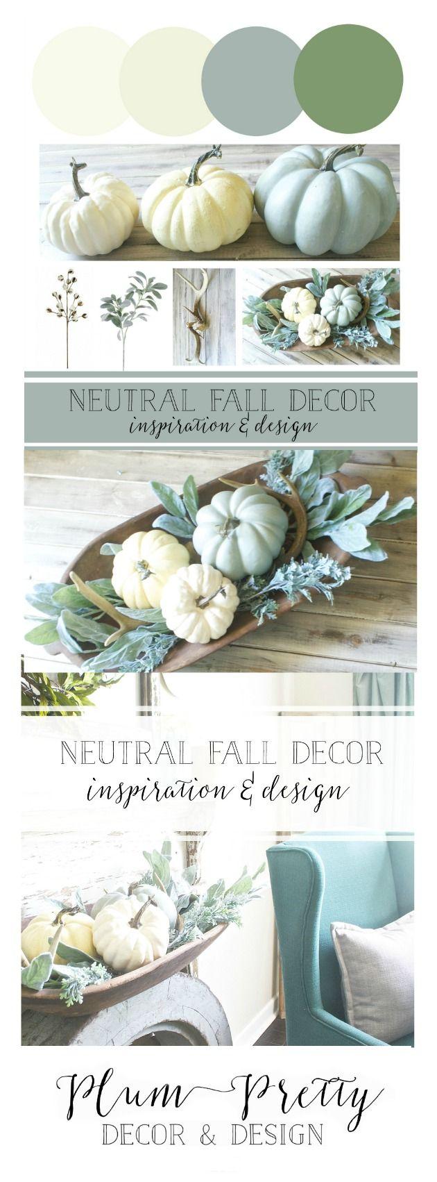 Plum Pretty Decor & Design Co.Neutral Fall Decor Plans- Inspiration & Design —