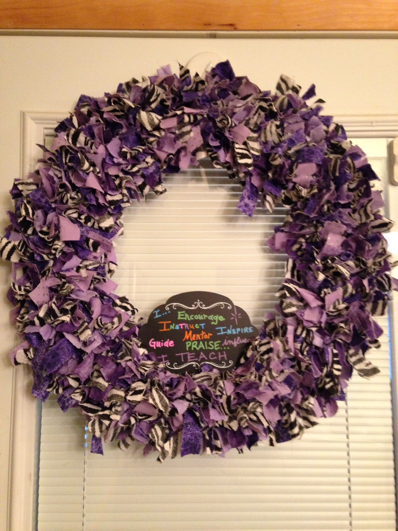 Rag Wreath wire wreath frame with 4 rings, I used 6