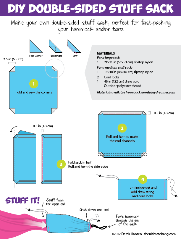 Make Your Own Double Sided Stuff Sack By Derek December