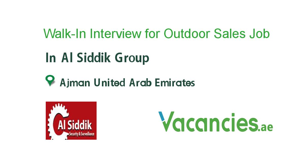 WalkIn Interview for Outdoor Sales Executive Executive