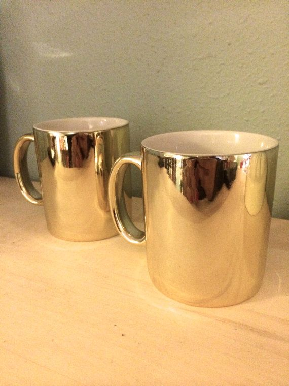 Pair of Gold FWC Mugs