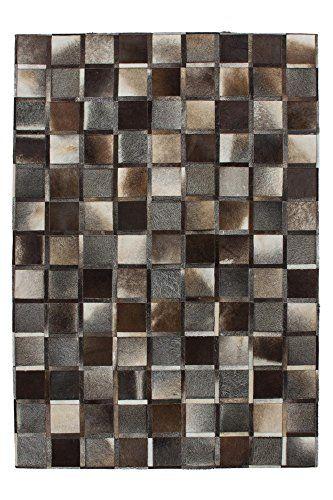 Teppich Design Rug Lavish 410 Grau 100 Leder 160x230cm   www - teppich wohnzimmer grau